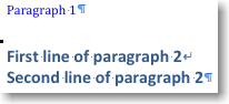 Example of Word applying a heading style to a complete paragraph.